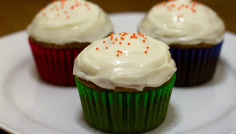 Pumpkin Cupcake with Cream Cheese Icing