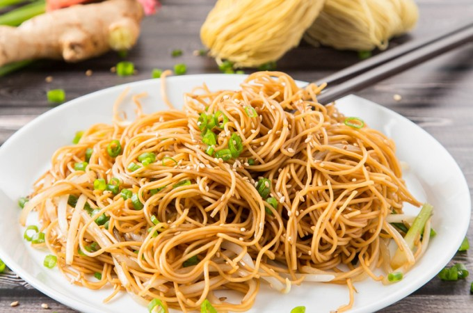 Hong Kong Soy Sauce Pan-Fried Noodles