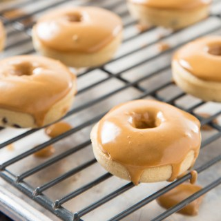Coffee Glazed Baked Chocolate Chip Donuts   The Missing Lokness