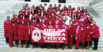 Members of the Jackson (MS) Alumnae Chapter of Delta Sigma Theta Sorority Inc. 2012