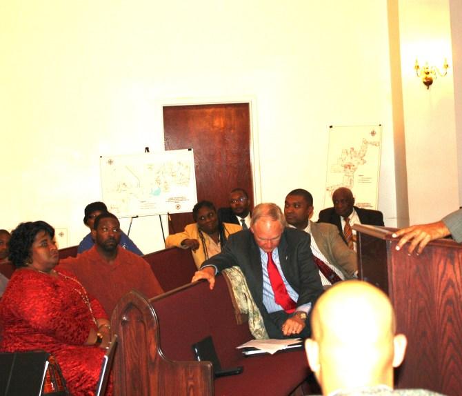Mayor Lumumba speaking at the Dec. 23 Wards 3 and 4 townhall meeting