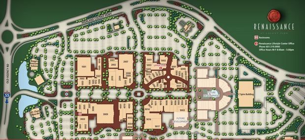Site plan for the Renaissance at Colony Park in Ridgeland
