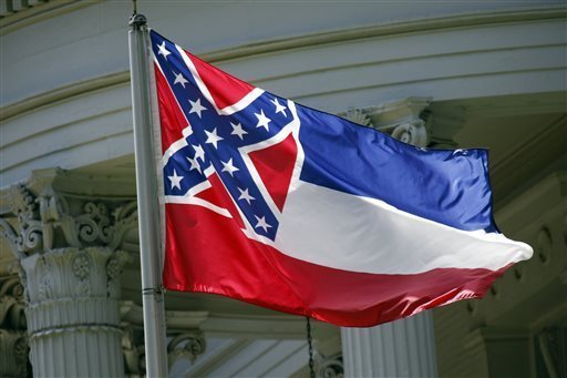 "The current Mississippi state flag will no longer fly on the University of Southern Mississippi campus. ""While I love the state of Mississippi, there is passionate disagreement about the current state flag on our campuses and in our communities,"" USM President Rodney Bennett said in a statement. (AP Photo/Rogelio V. Solis)"