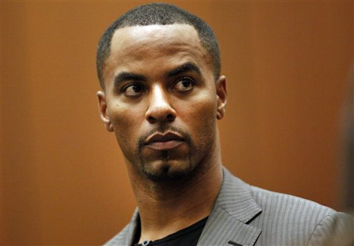 In this Feb. 20, 2014, file photo, former NFL safety Darren Sharper appears in Los Angeles Superior Court. Sharper pleaded guilty to federal charges in New Orleans and is jailed in Louisiana. AP File Photo