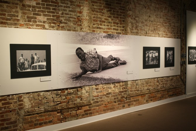 "The exhibition at Smith Robertson Museum and Cultural Center called ""James Meredith: Am I Or Am I Not a Citizen"" displays several historical photos. PHOTOs BY Shanderia K. Posey"