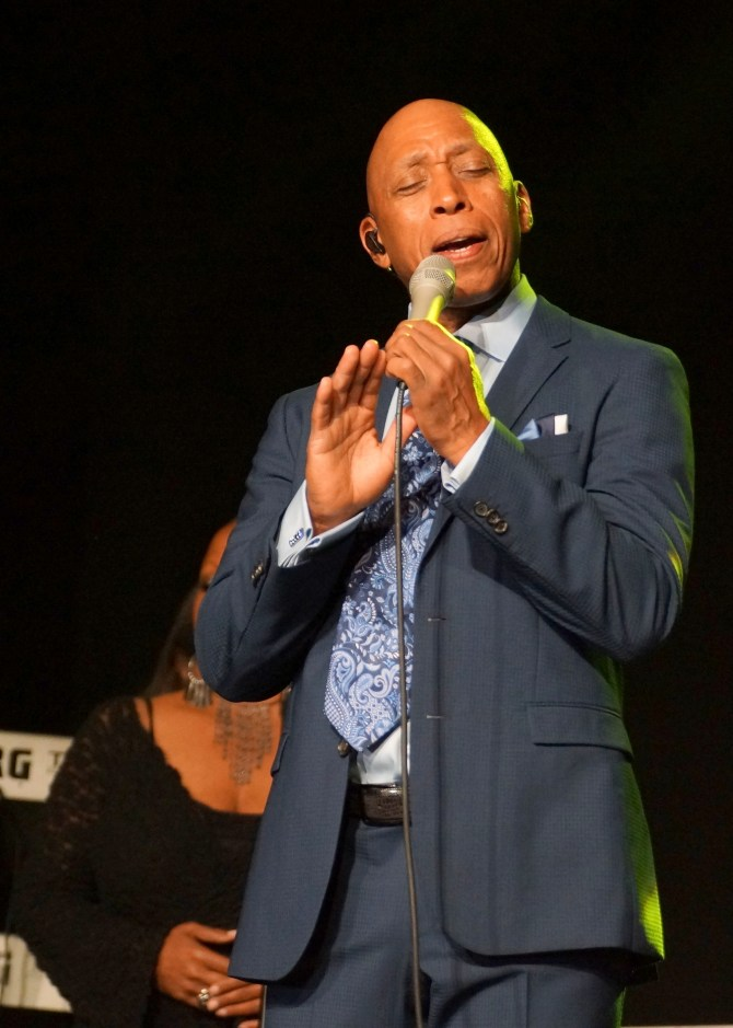 Grammy Award winning artist Jeffrey Osborne performed during the gala.