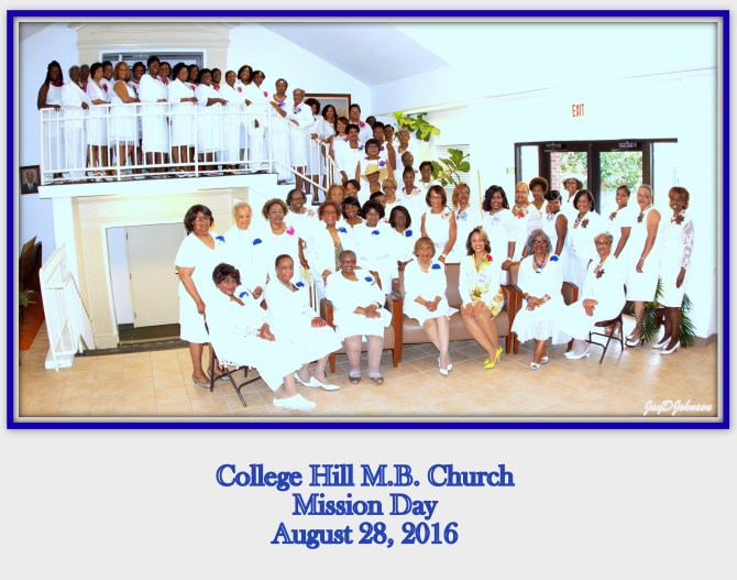 Kimberly Campbell is shown with College Hill M.B. Church mission sisters. PHOTO BY JAY JOHNSON