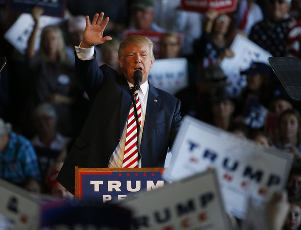 Republican presidential candidate Donald Trump speaks at a campaign rally, Tuesday, Oct. 18, 2016, in Grand Junction, Colorado. (Brennan Linsley / AP)