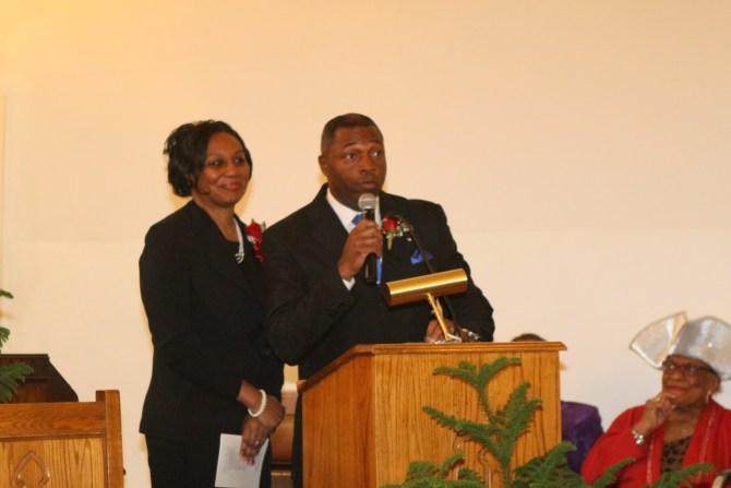 Newly ordained Deacon LaVaughn Rankin and wife Sherry Rankin