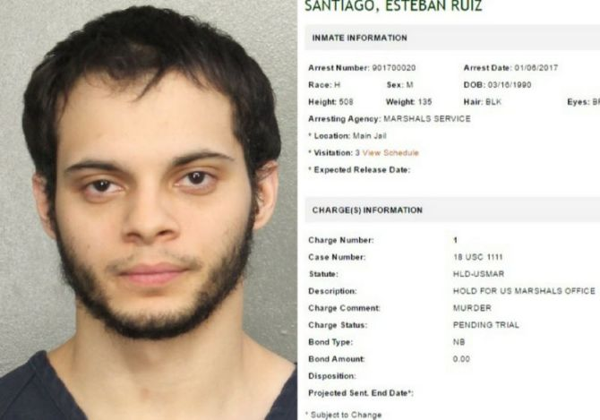 Fort Lauderdale airport shooting: Suspect Esteban Santiago charged, could face death penalty