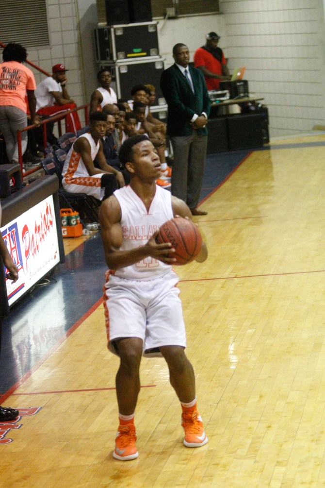 Devanate Horton of Callaway Chargers was hot from 3 point line.