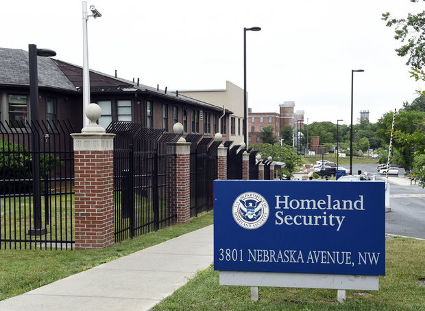 In this June 5, 2015 file photo, a view of the Homeland Security Department headquarters in Washington. Analysts at the Homeland Security Department's intelligence arm found insufficient evidence that citizens of seven Muslim-majority countries included in President Donald Trump's travel ban pose a terror threat to the U.S. (AP Photo/Susan Walsh, File)
