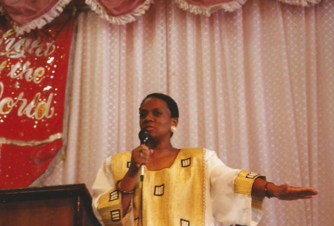 Paula ministering in South Africa in 1992
