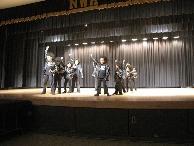 Student performers at New Hope's Black History grand finale.