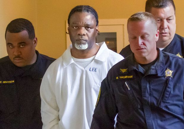 In this Tuesday, April 18, 2017 file photo, Ledell Lee appears in Pulaski County Circuit Court for a hearing in which lawyers argued to stop his execution which is scheduled for Thursday. (Benjamin Krain/The Arkansas Democrat-Gazette via AP, File)