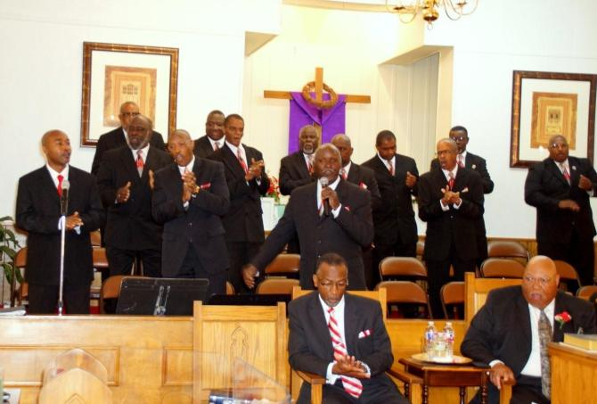 First Missionary Baptist Church male chorus of Gulfport, Miss.                    PHOTOS BY JAY JOHNSON