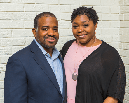 Ronnie Crudup Jr. and wife Andrea photo by Kehinde Gaynor