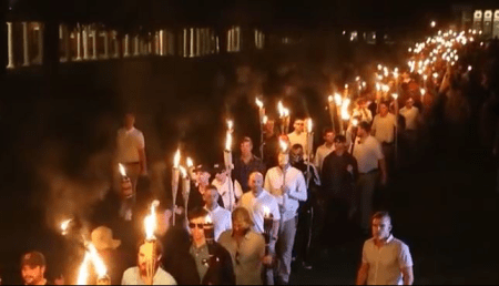 Biden campaign video showing 2017 hate march in Charlottesville.