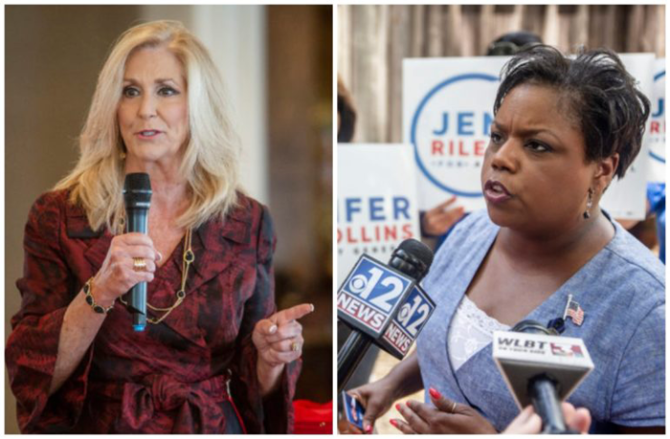 Republican Treasurer Lynn Fitch and Democrat Jennifer Riley Collins are both poised to make history.