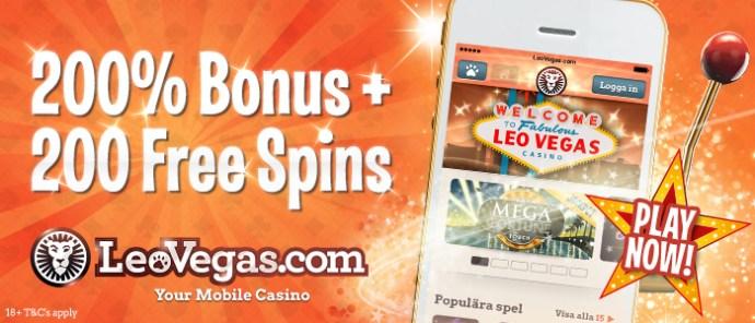 leo vegas casino 200 free spins no deposit bonus