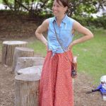 Mom Street Style:  Carrie's Vintage Midi Skirt and Chambray