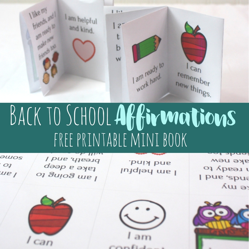 Back to School affirmations square
