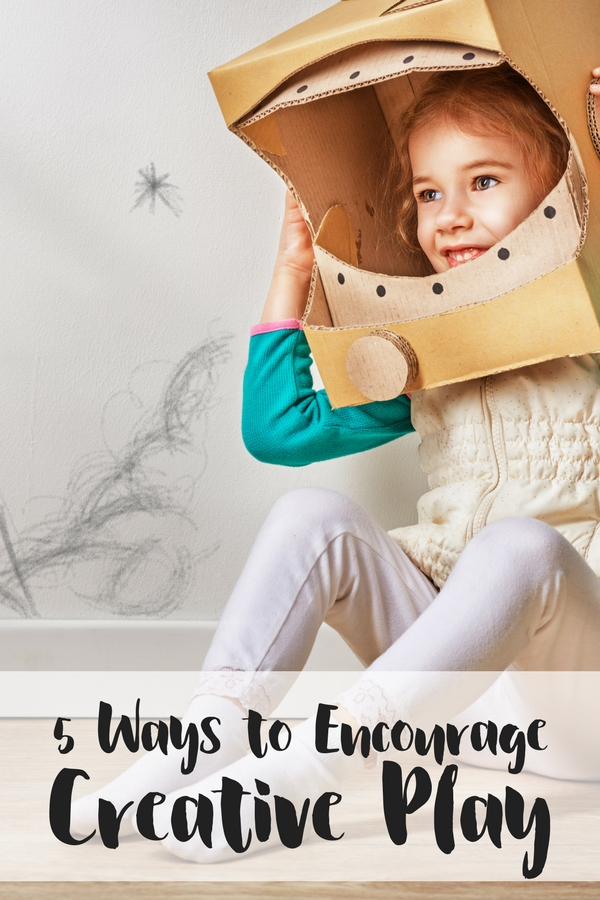 Five simple ways to encourage creative play in preschoolers, from incorporating a creative space in the home and even bringing it on the road.