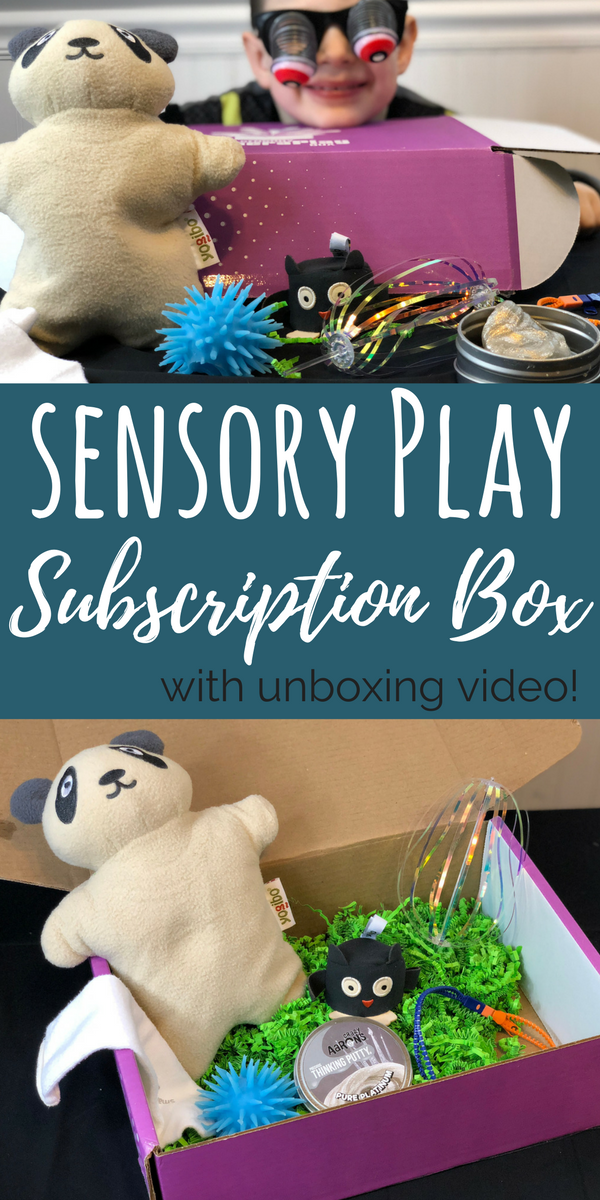 The Sensory TheraPLAY subscription box is great for kids with sensory needs at home. Check out our unboxing video, and what's in our box.