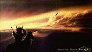 Buzzard Flies Over Mountains