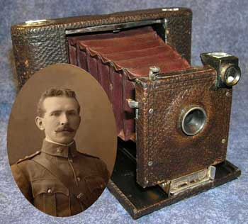 The man and the camera that took the world's very first genuine front line combat photo.