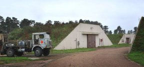 Disused missile silos at the former RAF Bentwaters base