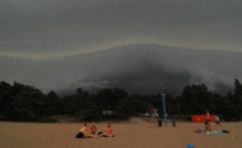 It happened at Hietaniemi beach, Helsinki. This must be one of the scariest storm fronts ever captured on camera.