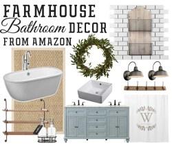 Small Of Farmhouse Bathroom Decor