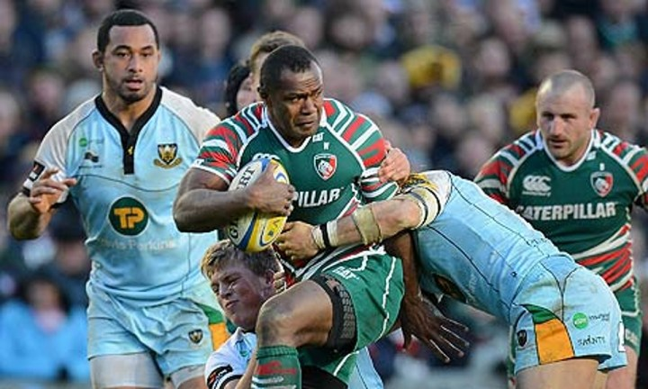 The Fijian Flyer shining for Leicester.