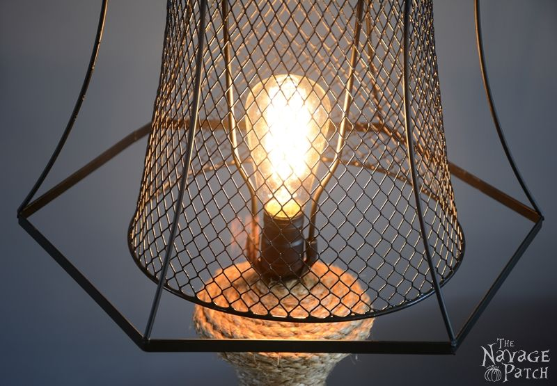 Old Lamp Revamp, shared by the Navage Patch at The Chicken Chick's Clever Chicks Blog Hop