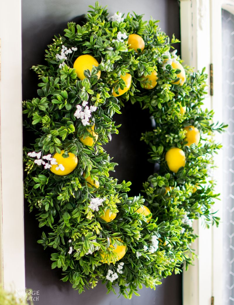DiY Summer Lemon Wreath by The Navage Patch