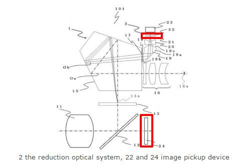 CANON optical viewfinder patent image