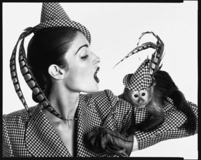 The 1940s  Stephanie Seymour in Charvet, Paris, April 1995 - low res