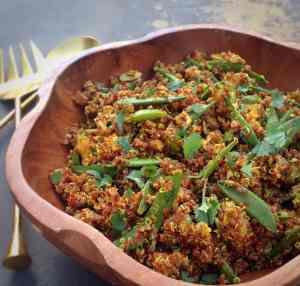 Curry Quinoa & Sugar Snap Pea Salad