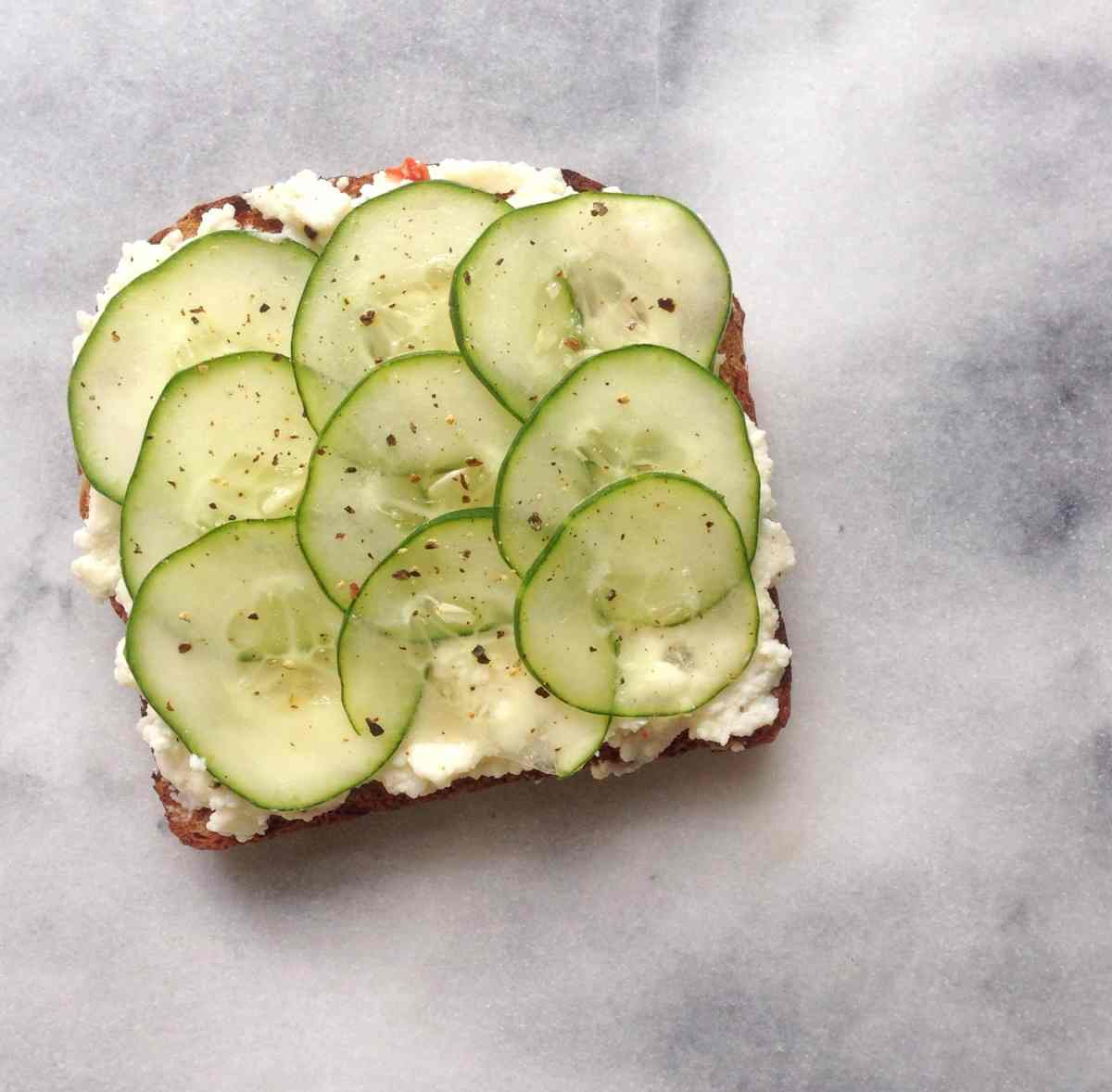 {Meals for One} Cucumber Tartine