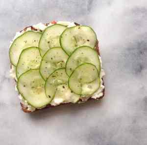 Cucumber Tartine
