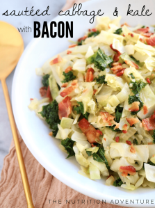 Sauteed Cabbage & Kale with Bacon