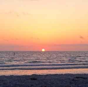 Indian Rocks Beach Florida sunset