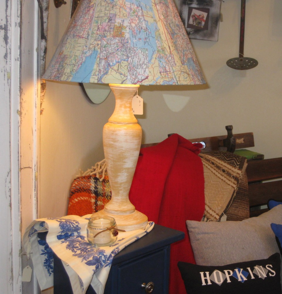 Map Lampshade at Garden Party Gallery