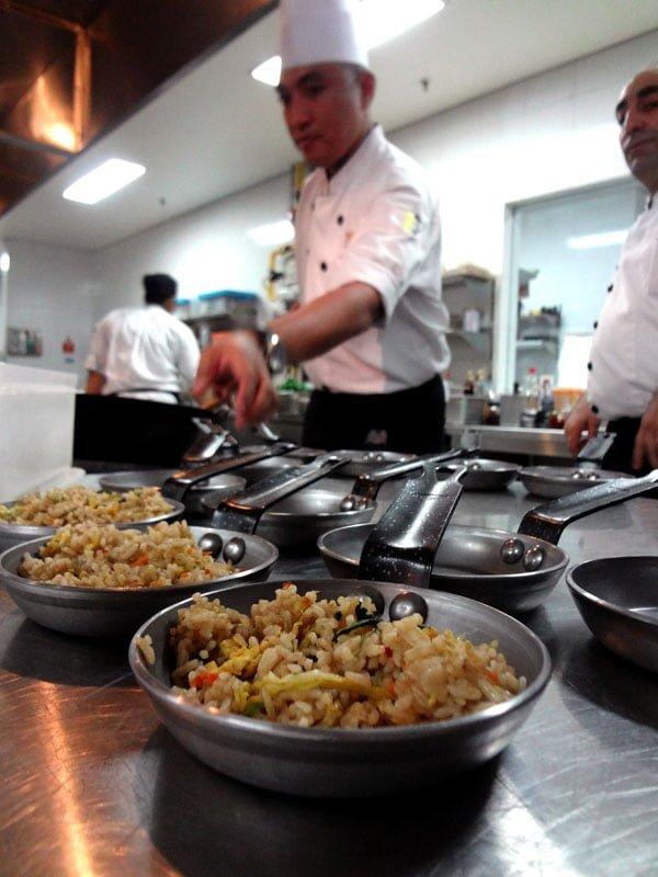 Sheraton Kuta Bali Kitchen Table - Nasi Padang