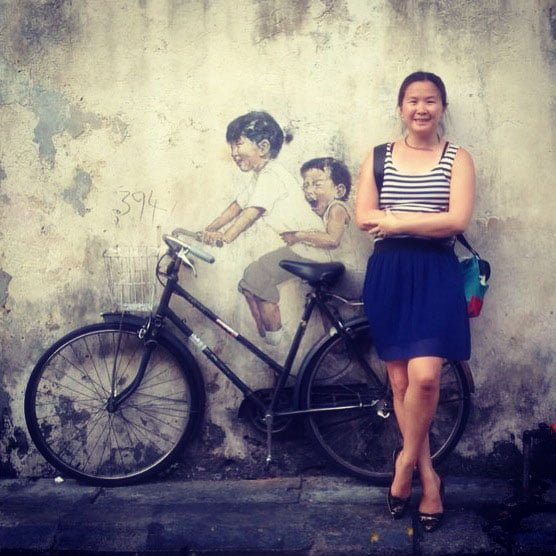 Penang Street Art - Bicycle Kids EZ