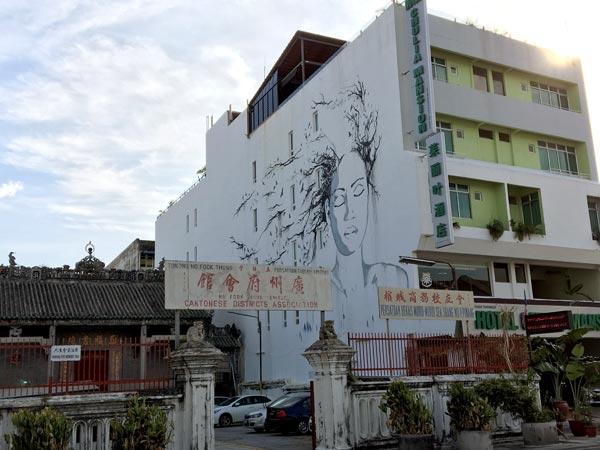 Penang Street Art - Lebuh Chulia Face Vexta