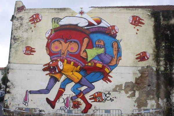 Portugal - Lisbon Belem Mar Street Art