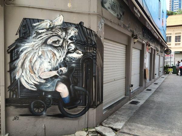 Singapore Street Art - Bellwethers Boy Wolf