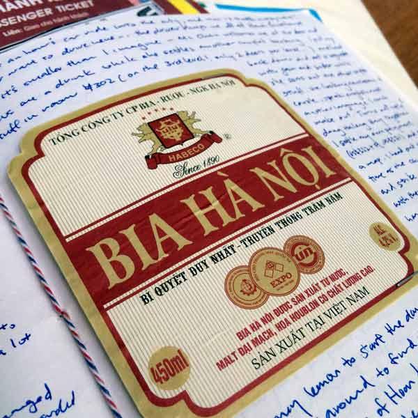 Travel Journals Vietnam 2011 Beer Label